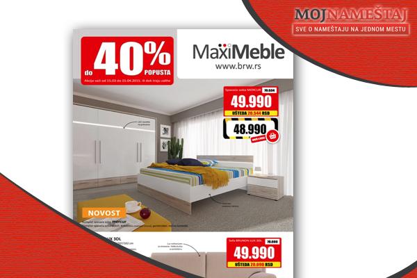 Maxi Meble katalog Januar 2015 - AKCIJA