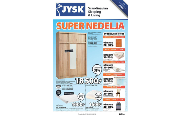 JYSK katalog  AVGUST 2016