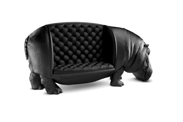 Fotelja u obliku nilskog konja
