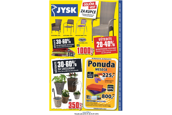 JYSK katalog - Jun - Jul 2014 - Akcija