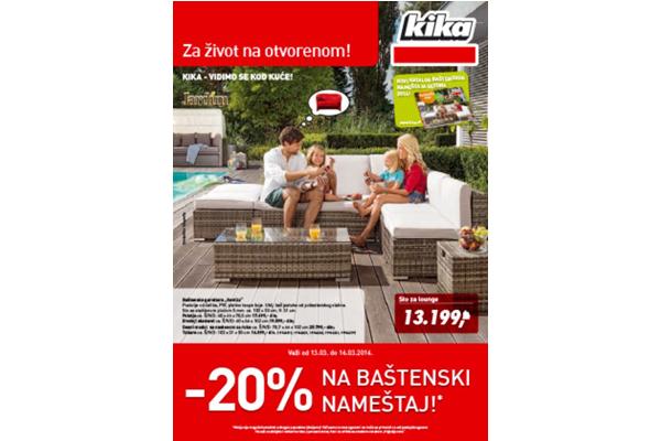 Kika katalog Baštenski nameštaj - Za život na otvorenom!