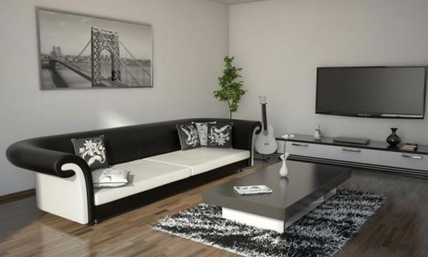Savremene crno-bele dnevne sobe