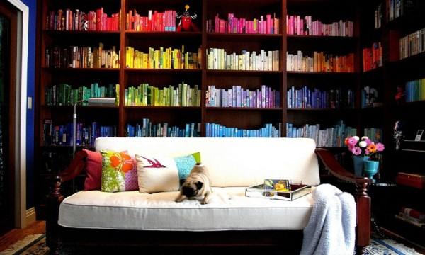 Polica za knjige kao ukras za dnevne sobe