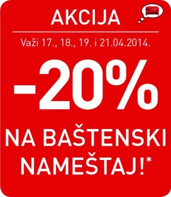 Kika akcija - 20% na baštenski nameštaj!