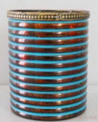 Tealight Holder Antique Stripes 13cm