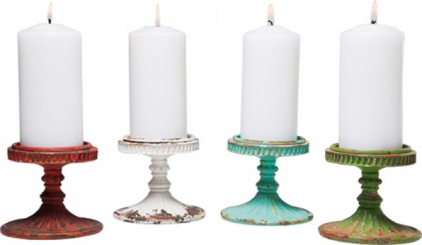 Candle Holder Barock Chic 10cm Assorted