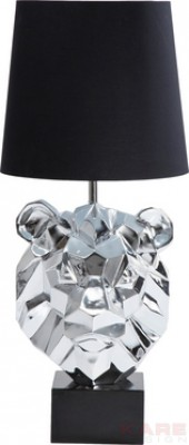 Floor Lamp Lion Head Chrom