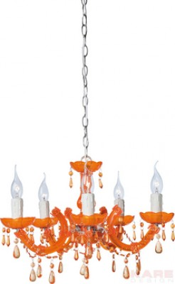 Hanging Lamp Barock Orange 5 Lights