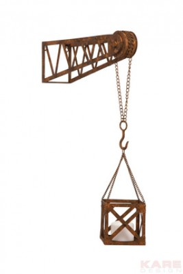 Wall Candle Holder Crane