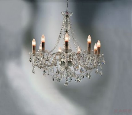 Pendant Lamp Gioiello Crystal Clear 9-Branched