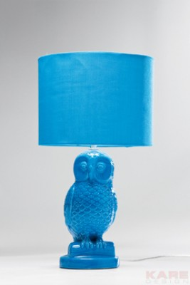 Table Lamp Eule Blue