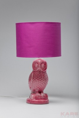 Table Lamp Eule Pink
