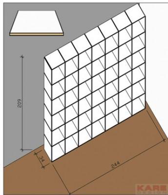 Shelf Logical Home 209 x 244 cm