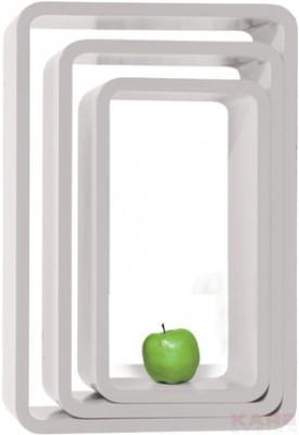 Lounge Cube Oval white (3/Set)