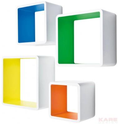 Lounge Cube MDF Square Colore (4/Set)