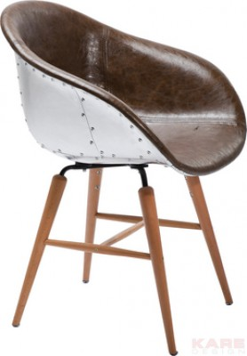 Chair With Armrest Forum Soho Brown