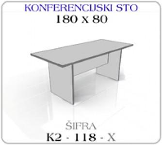Konferencijski sto 180 x 80