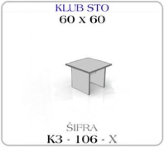 Klub sto 060 x 60