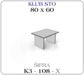 Klub sto 080 x 60
