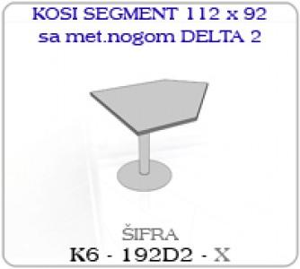 Kosi segment 112 x 92 sa metalnom nogom DELTA 2
