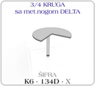 Tri cetvrtine kruga sa metalnom nogom DELTA