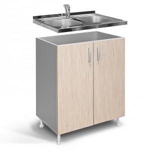 Kuhinjski element IN D80 S — Bambus-Sivo