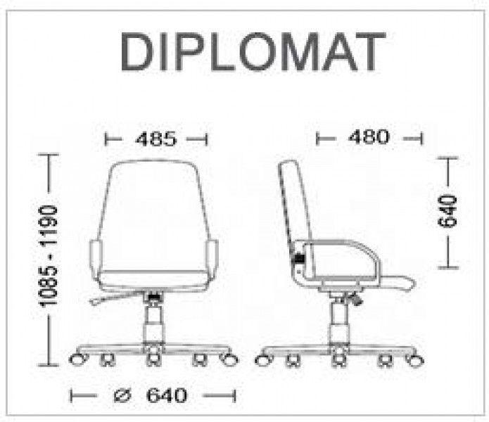 Kancelarijska stolica DIPLOMAT