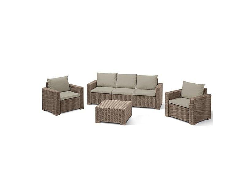 Baštenski set California 3 seater - kapućino