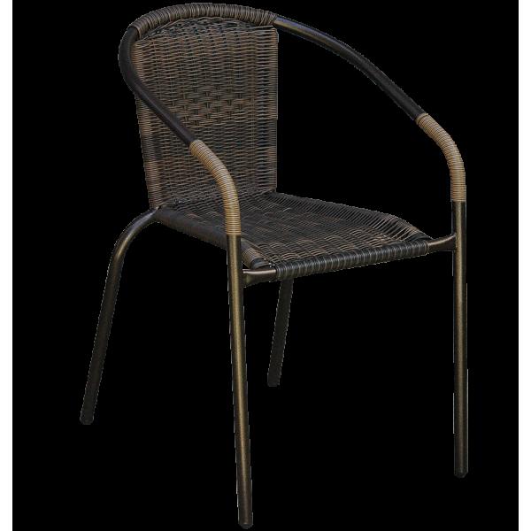 Ratan stolica baštenska braon (1545)
