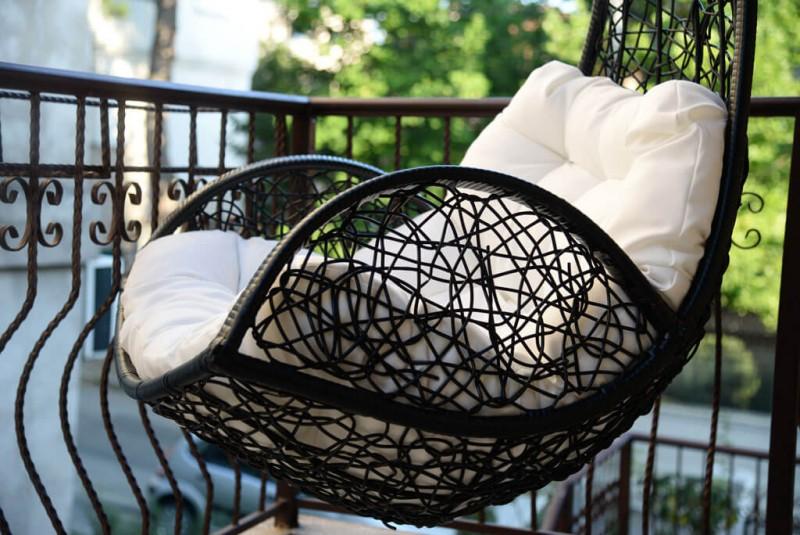 Ljuljaška korpa Braon ratan (Elegance)