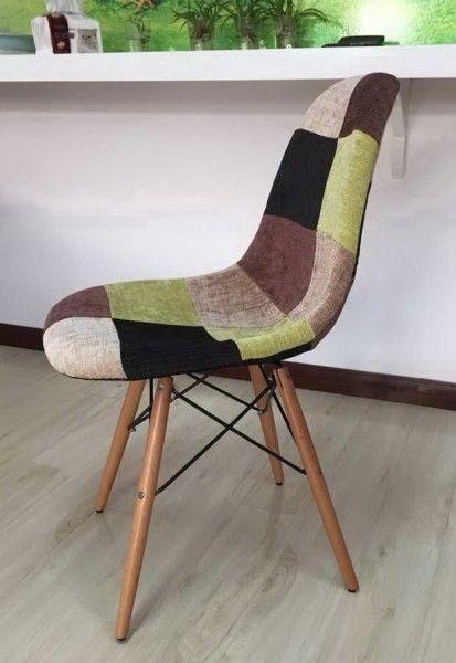 Moderna Stolica Charlie Patchwork Zelena