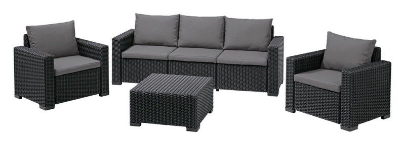 Baštenski set California 3 seater - grafit